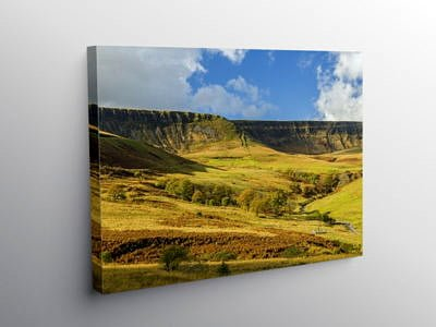 The Top of Cwmparc Rhondda, Canvas Print