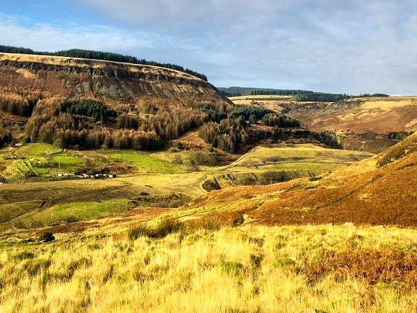 The top of the Rhondda Fawr Valley at Blaenrhondda
