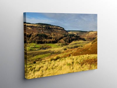 The top of the Rhondda Fawr Valley at Blaenrhondda, Canvas Print