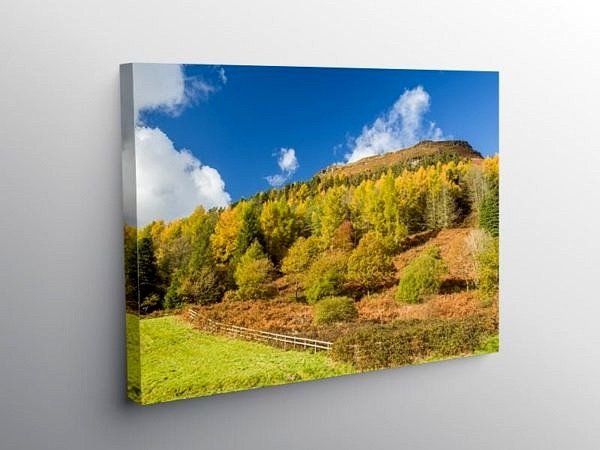 The south face of Pen Pych above Blaencwm Rhondda, Canvas Print