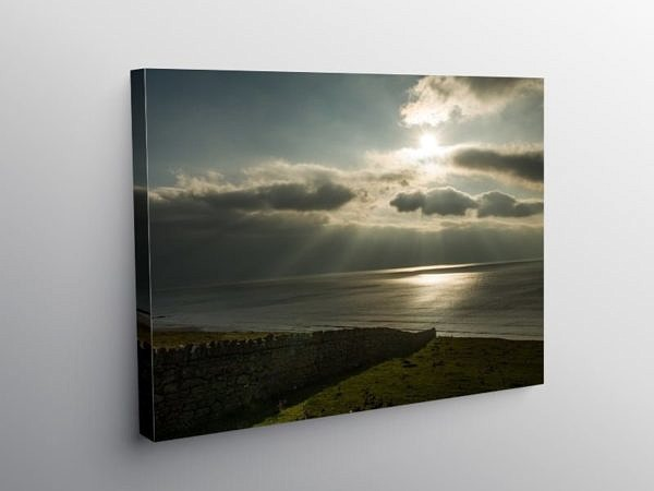 Dunraven Bay Out to Sea, Canvas Print