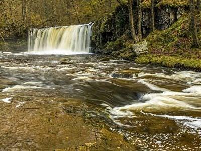 The Upper Ddwli Falls on the River Neath