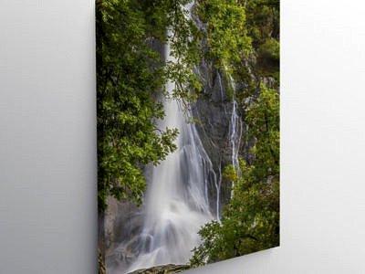 Aber Falls at Abergwyngregyn Gwynedd North Wales, Canvas Print