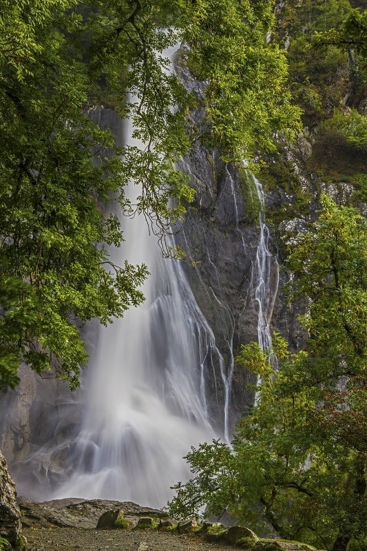Aber Falls at Abergwyngregyn North Wales