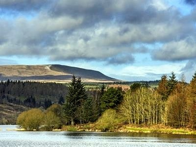 Llwyn On Reservoir Central Brecon Beacons south Wales