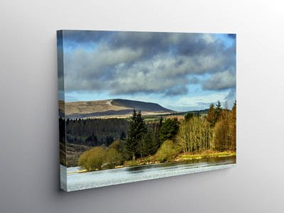 Llwyn On Reservoir Central Brecon Beacons south Wales, Canvas Print