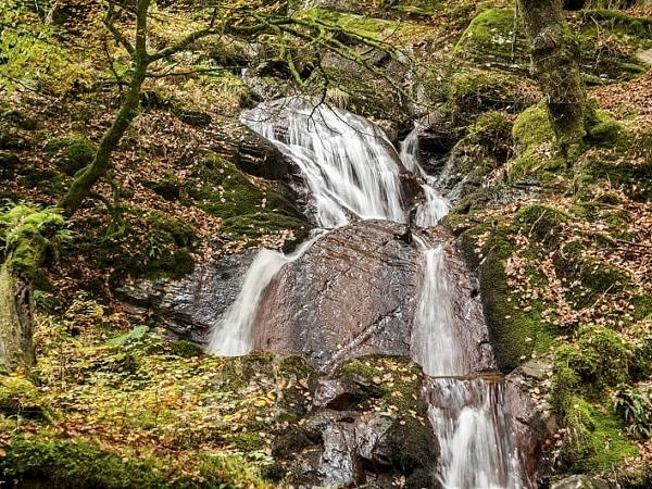 The Nant Gwyllt Waterfall in the Claerwen Valley