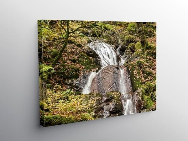 The Nant Gwyllt Waterfall in the Claerwen Valley, Canvas Print