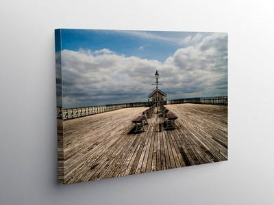 Penarth Pier Facing Out to Sea Vale of Glamorgan, Canvas Print