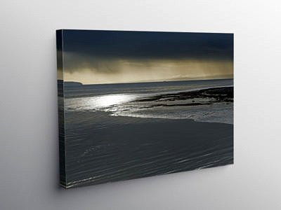 Bristol Channel from Cardiff Bay into the Sun, Canvas Print