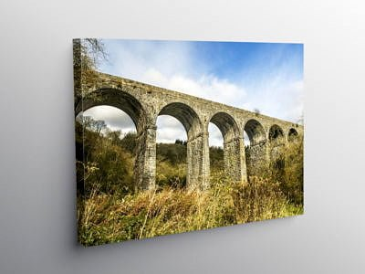 Pontsarn Viaduct just north of Merthyr Tydfil, Canvas Print