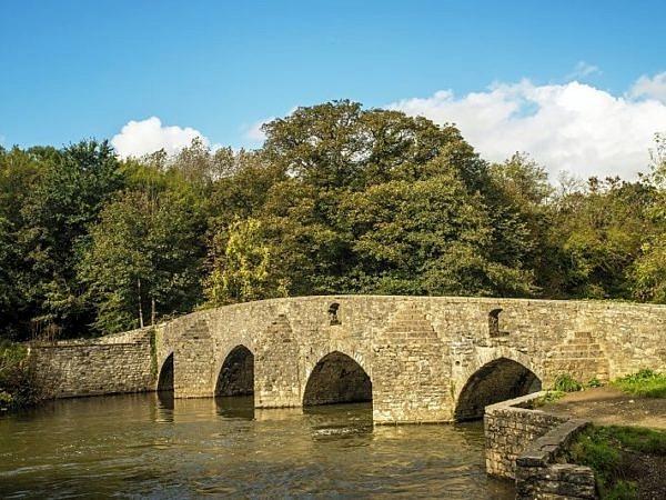 Merthyr Mawr Sheep Dipping Bridge Bridgend South Wales