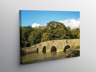 Merthyr Mawr Sheep Dipping Bridge Bridgend South Wales, Canvas Print