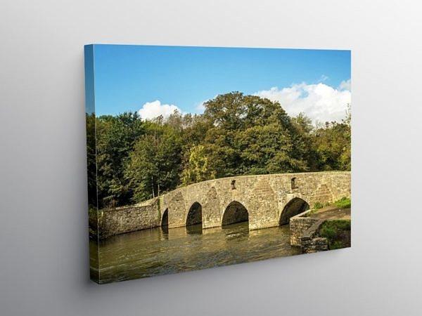 Merthyr Mawr Sheep Dipping Bridge Bridgend, Canvas Print