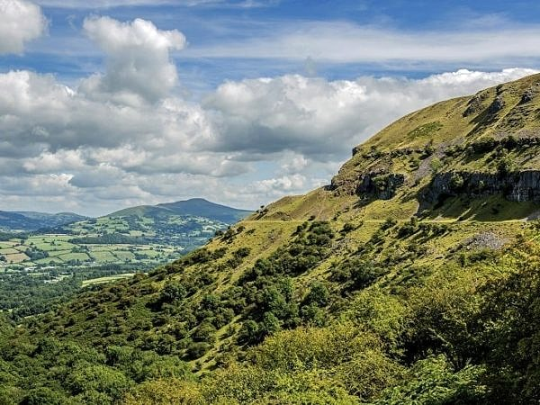Llangattock Escarpment and the Sugarloaf Brecon Beacons south Wa