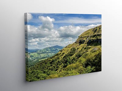 Llangattock Escarpment and Sugarloaf Brecon Beacons, Canvas Print