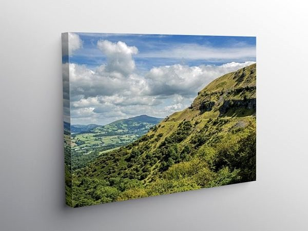 Llangattock Escarpment and Sugarloaf Brecon Beacons, Canvas Print