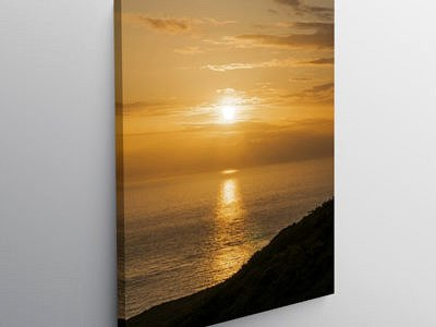 Sunset off the Pembrokeshire Coast at Trefasser, Canvas Print