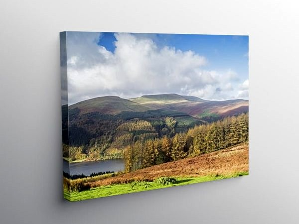 The View to Waun Rydd Brecon Beacons, Canvas Print