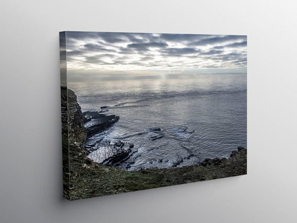 The Bristol Channel from Nash Point, Canvas Print