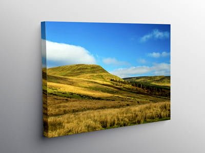 The Ridge of Craig y Fan Ddu from Torpantau, Canvas Print