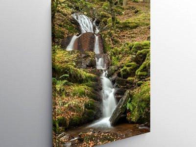 Nant Gwyllt Waterfall Claerwen Valley, Canvas Print