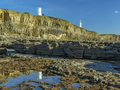 Two Lighthouses at Nash Point South Wales