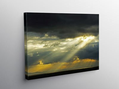 Sunbeams hitting the Bristol Channel, Canvas Print