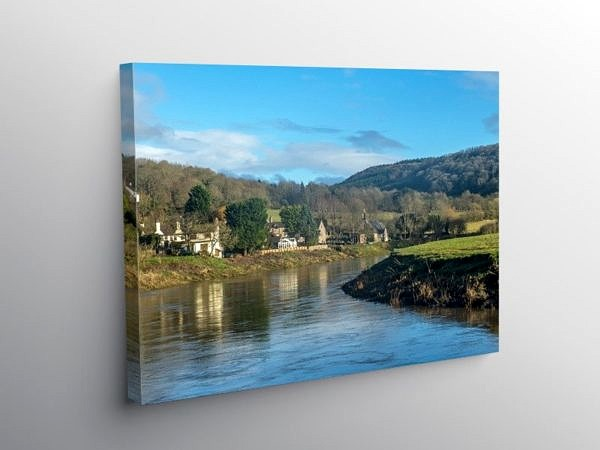 The River Wye at Tintern Parva Wye Valley, Canvas Print
