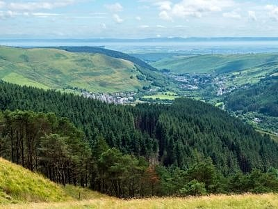 View to the Bristol Channel from The Bwlch