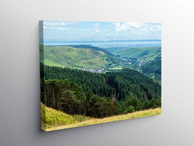 View to the Bristol Channel from The Bwlch, Canvas Print