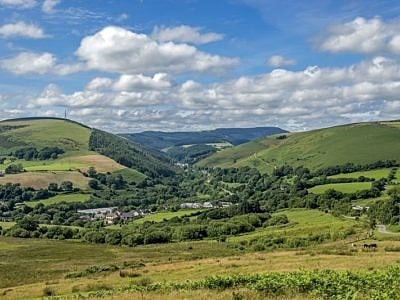 Looking up the Garw Valley South Wales