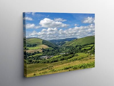 Looking up the Garw Valley South Wales, Canvas Print