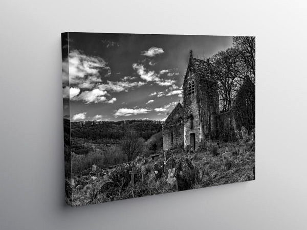 St Marys Church Tintern Monmouthshire, Canvas Print