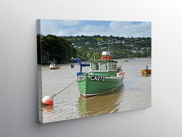 River Teifi at Cardigan Ceredigion, Canvas Print