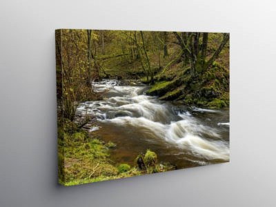 River Neath below Pont Melin Fach, Canvas Print