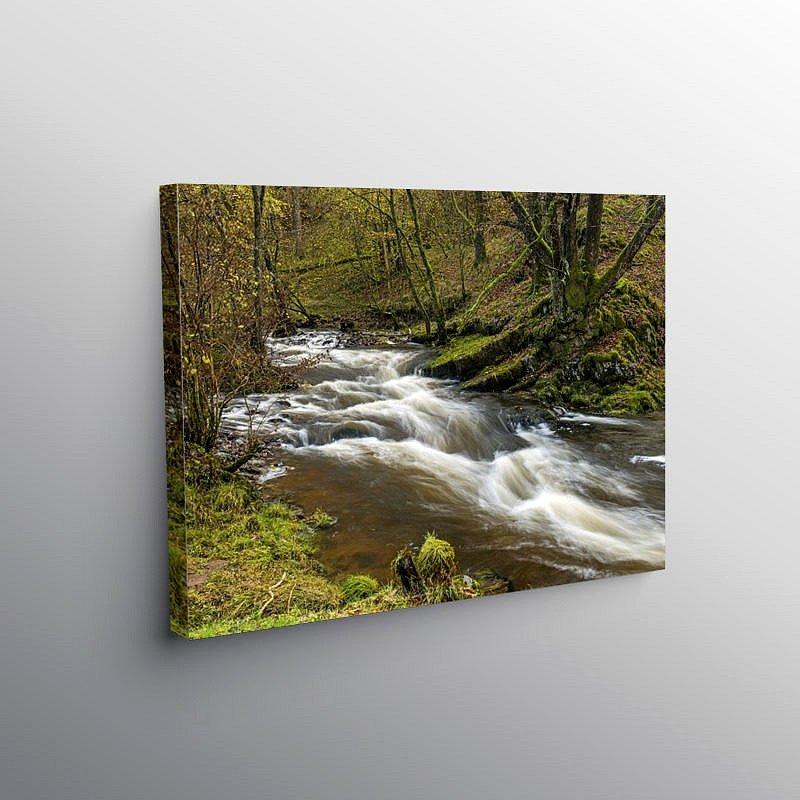 River Neath below Pont Melin Fach, Canvas Print