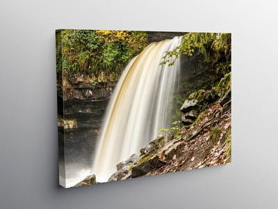 Scwd Gwladys Waterfall Close Up, Canvas Print