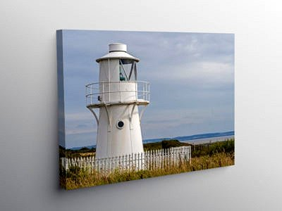 East Usk Lighthouse Newport Wetlands Centre, Canvas Print
