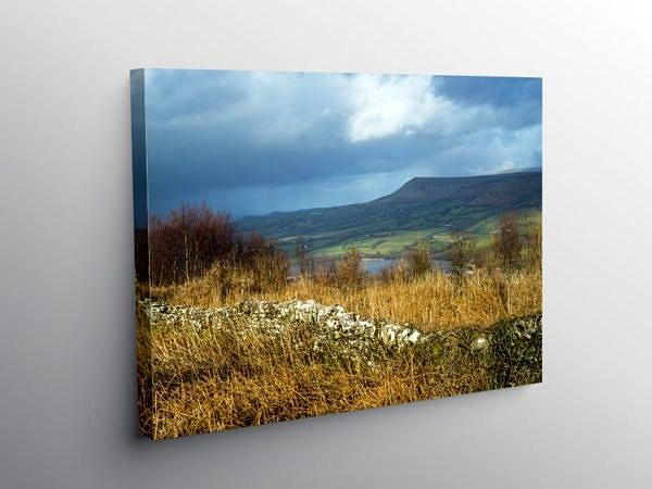 View from Allt yr Esgair to Mynydd Troed, Canvas Print