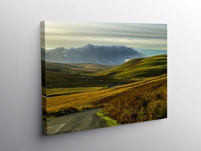 The head of the Elan Valley looking south west, Canvas Print