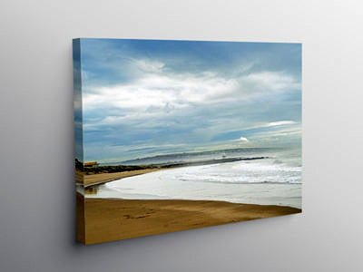 Trecco Bay Porthcawl in Winter, Canvas Print