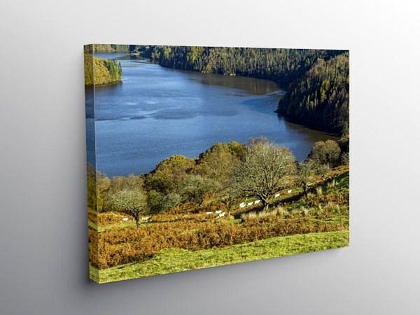 Llyn Brianne Reservoir Mid Wales, Canvas Print