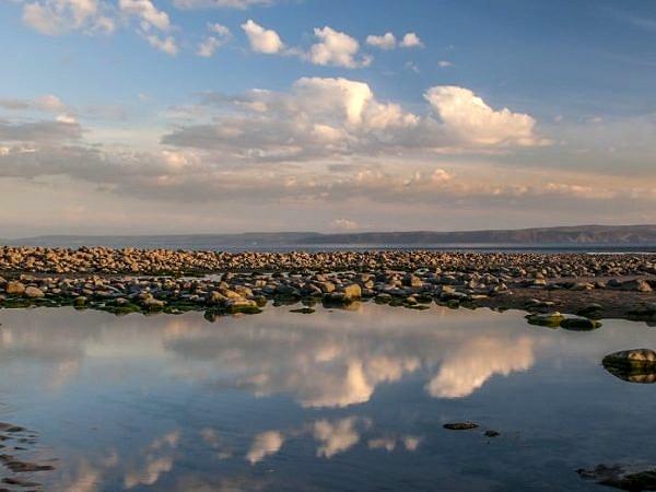 Pool Reflections Colhugh Beach Llantwit Major