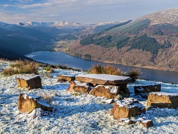 The Talybont Valley in Winter