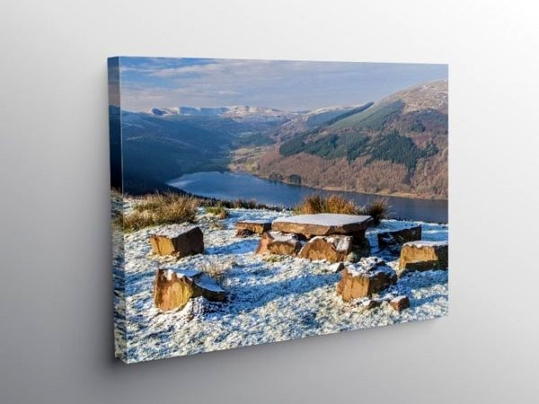 The Talybont Valley in Winter, Canvas Print