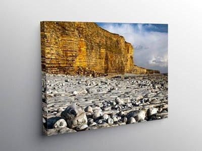 Llantwit Major Beach Glamorgan Coast, Canvas Print