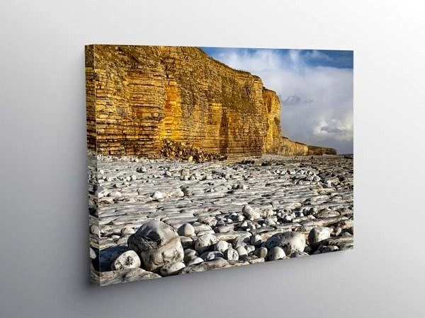 Llantwit Major Beach Glamorgan Coast, Canvas Print
