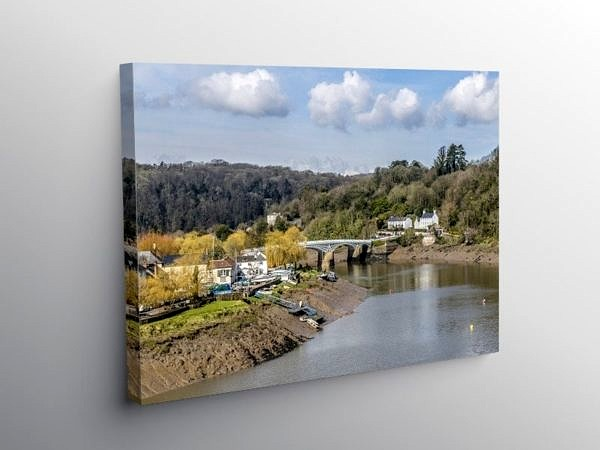 The River Wye at Chepstow, Canvas Print