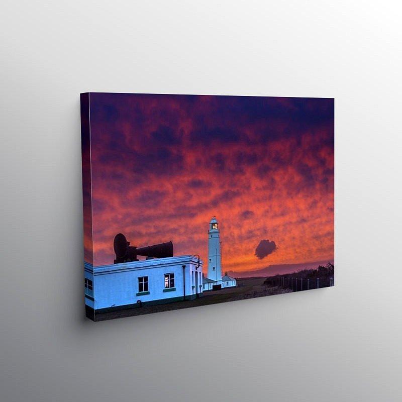 Nash Point Lighthouse at Sunrise, Canvas Print